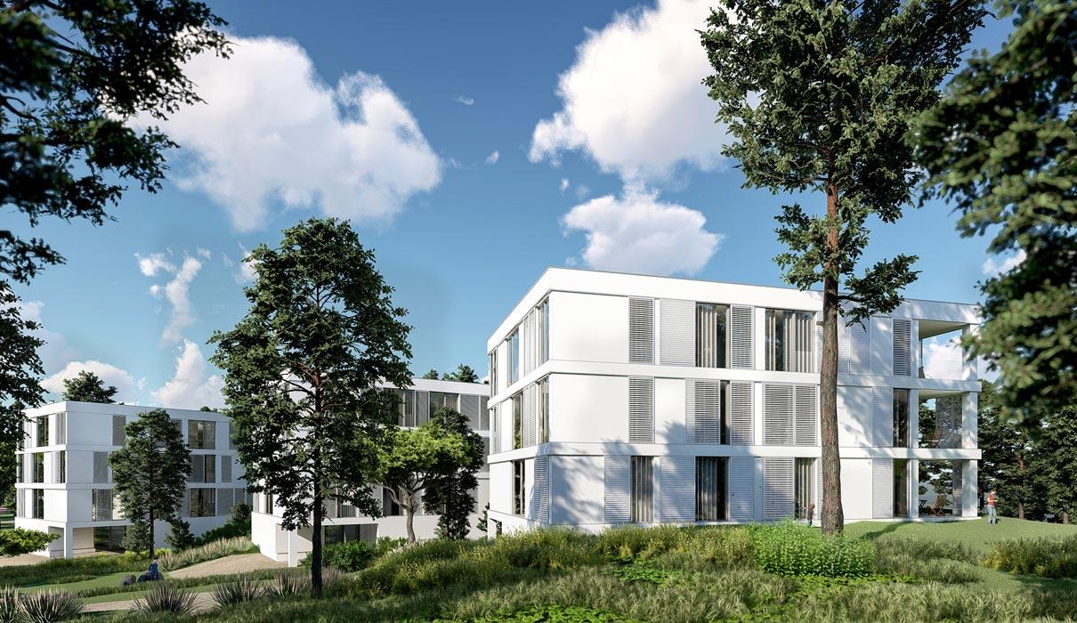 Villa mit Blick auf das Stettiner Haff