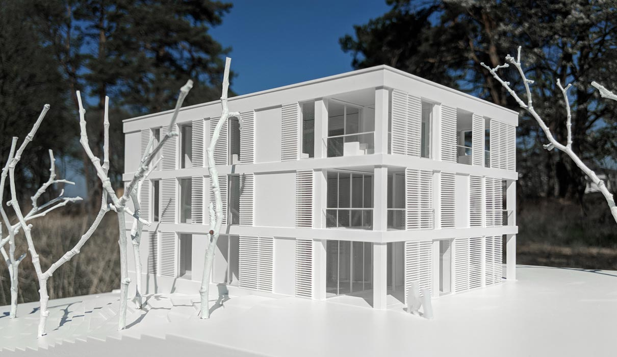Modell des Neubauprojektes auf Usedom